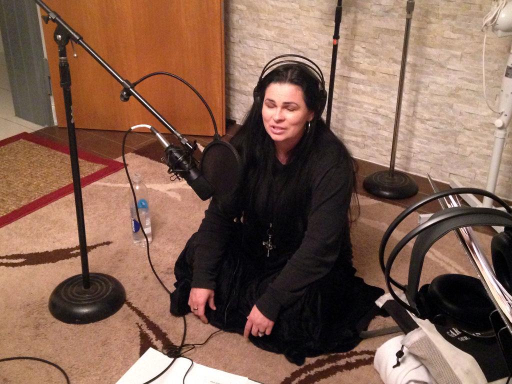 Amber in studio